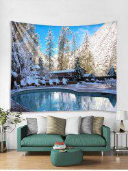 Christmas Snow Swimming Pool Tapestry Art Decoration -
