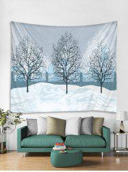 Christmas Snow Tapestry Art Decoration -