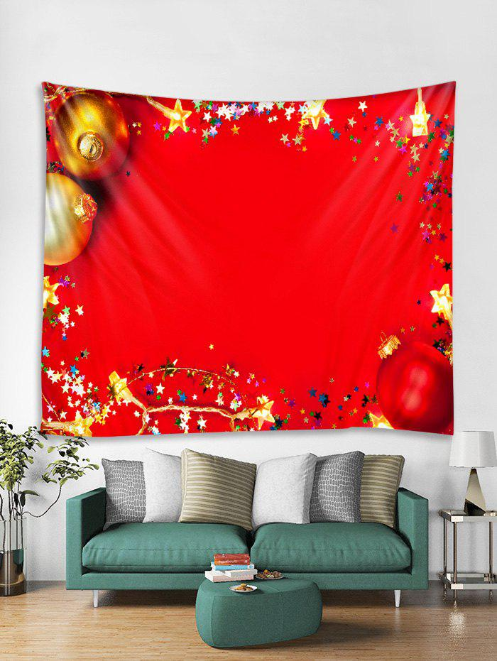 Outfits Christmas Stars Balls Print Tapestry Wall Hanging Decor