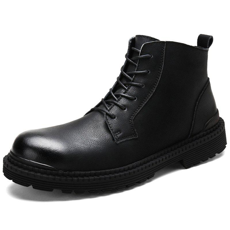 Cheap Men Leisure High-top Boots Warm Comfortable Lace-up