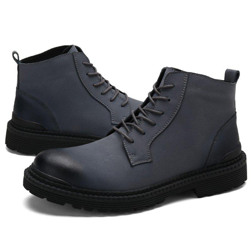 Hot Men Leisure High-top Boots Warm Comfortable Lace-up