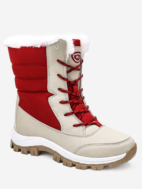 Sale Contrast Mid Calf Snow Boots