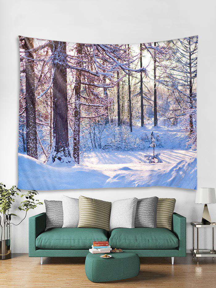Affordable Christmas Snow Forest Tapestry Art Decoration