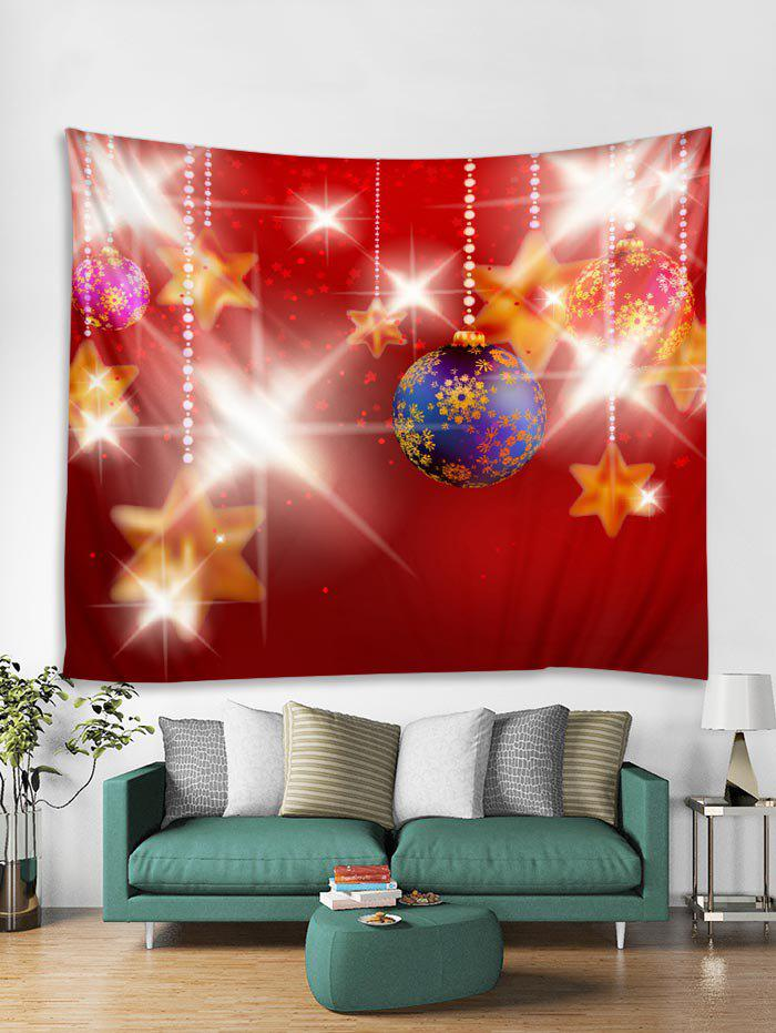 9ac6fc030bb Christmas Snowflake Ball Tapestry Art Decoration - Red - W59 X L59 Inch