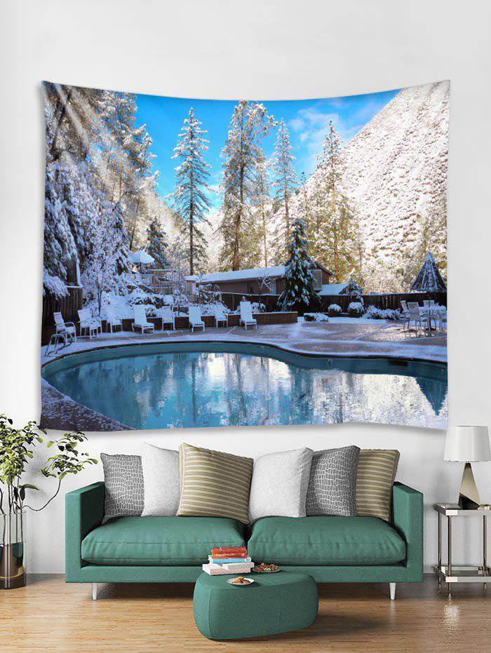 Cheap Christmas Snow Swimming Pool Tapestry Art Decoration