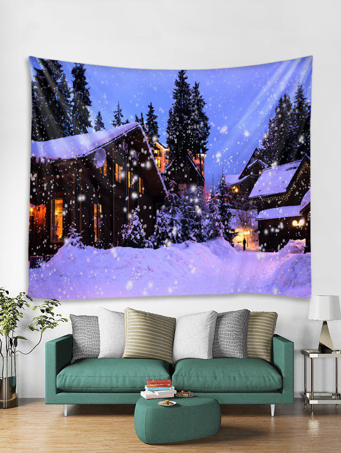 Store Christmas Snow House Tapestry Art Decoration