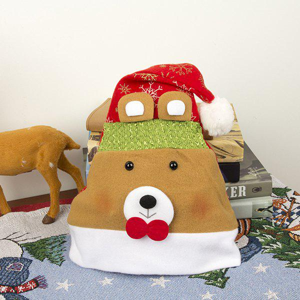 Adult Flannel Cartoon Decoration Christmas Hat Rouge Ours