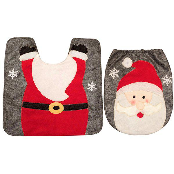Affordable Creative Christmas Decoration Toilet Mat Floor Mat for Bathroom
