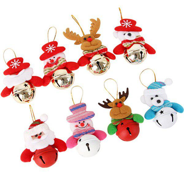 Christmas Cartoon Doll Bell Hanging Ornaments 8PCS