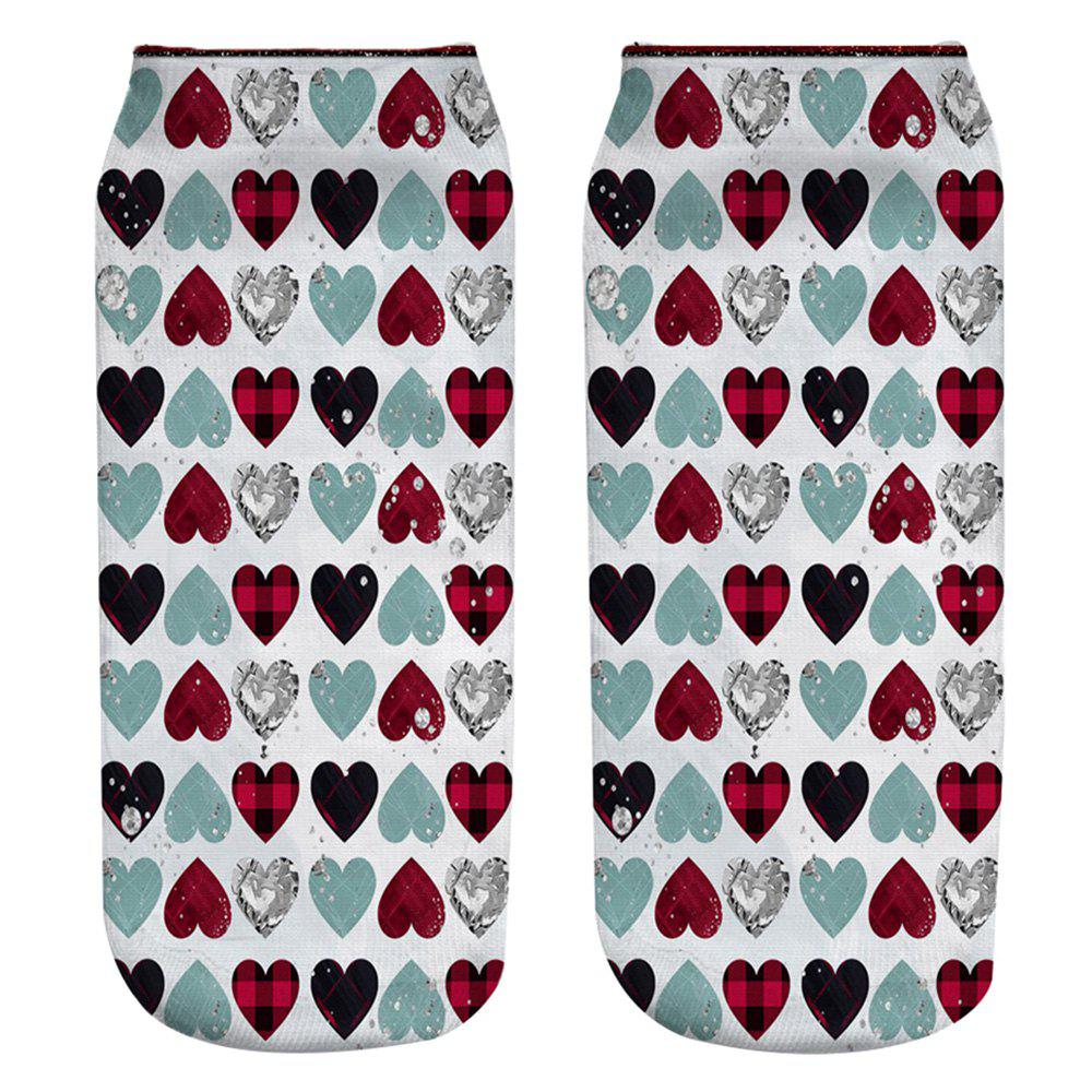Store 7 - YZ9431 3D Printed Polyester Socks with Love Pattern