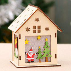 Luminous Wooden House Snow House Hotel Bar DIY Gift DIY Christmas Window Decoration -