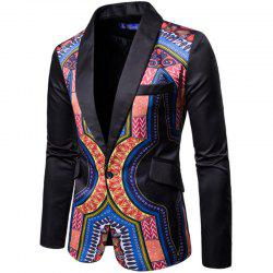 Men Fashion Printed Colorful Balzer National Style Men's Suit -