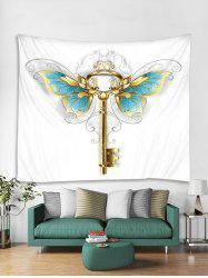 Butterfly Key Print Tapestry Wall Hanging Art Decoration -