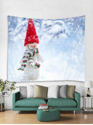 Christmas Snowman Print Tapestry Wall Hanging Art Decoration -