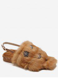 Snowflake Decorative Faux Fur Slippers -