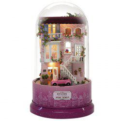 Encounters Corner DIY Doll House With Furniture Music Light Cover Gift House Toy -