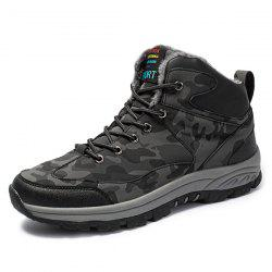 Men Brushed Water-proof Outdoor High Shoes Snow Boot -