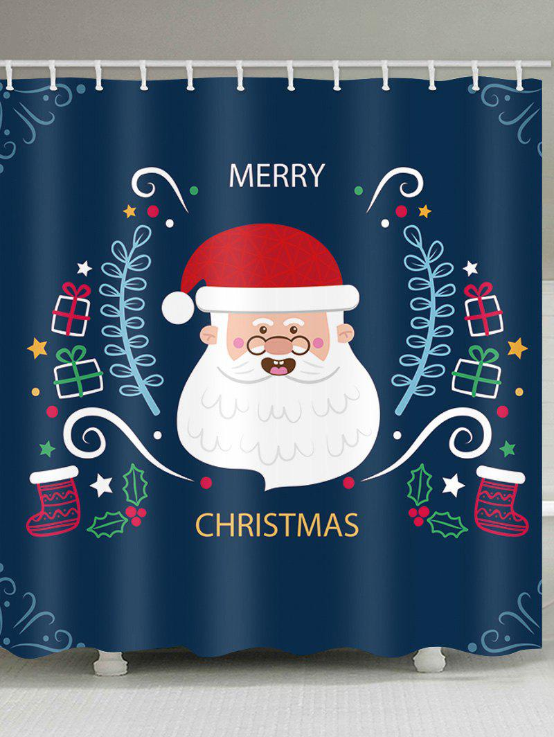 Outfits Christmas Santa Print Waterproof Bathroom Shower Curtain