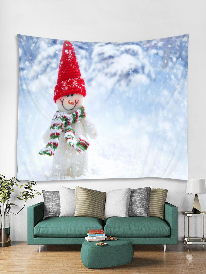 Trendy Christmas Snowman Print Tapestry Wall Hanging Art Decoration