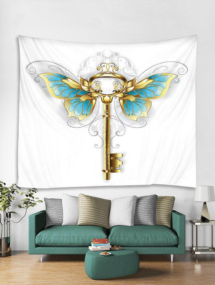 Sale Butterfly Key Print Tapestry Wall Hanging Art Decoration