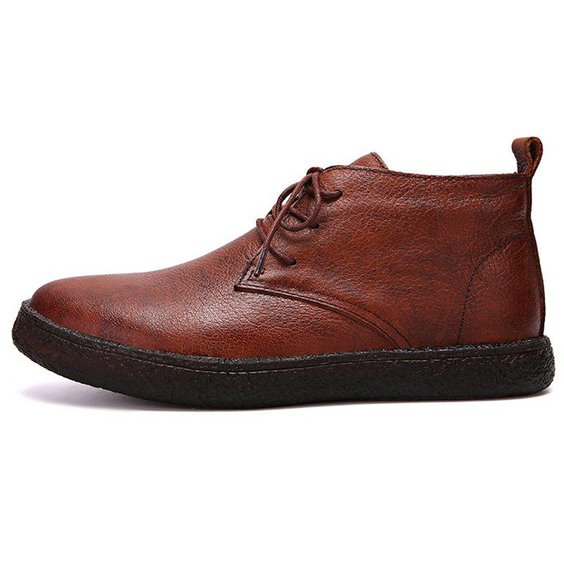 Online Men Fashionable Wear-resisting High-top Boots