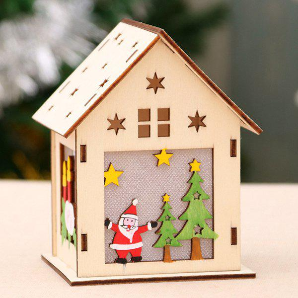 Fashion Luminous Wooden House Snow House Hotel Bar DIY Gift DIY Christmas Window Decoration