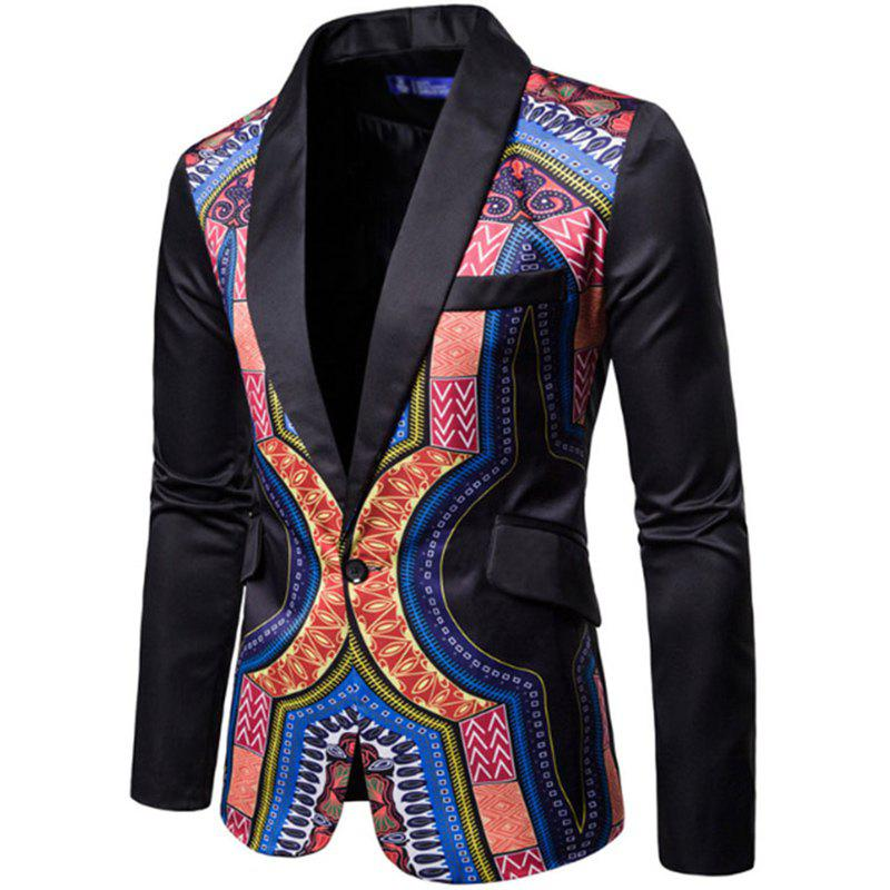 Outfits Men Fashion Printed Colorful Balzer National Style Men's Suit