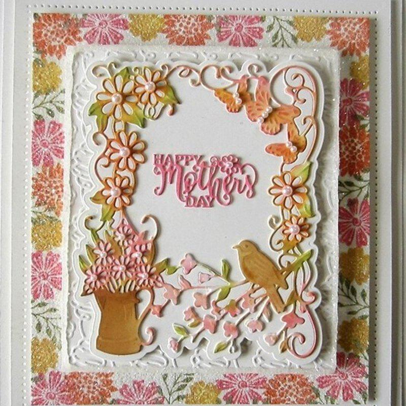 New 7 - DM0176 Happy Mother Day Cutting Dies