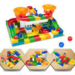 Construction Marble Race Run Maze Balls Track Building Blocks Educational Bricks Toy 52pcs -
