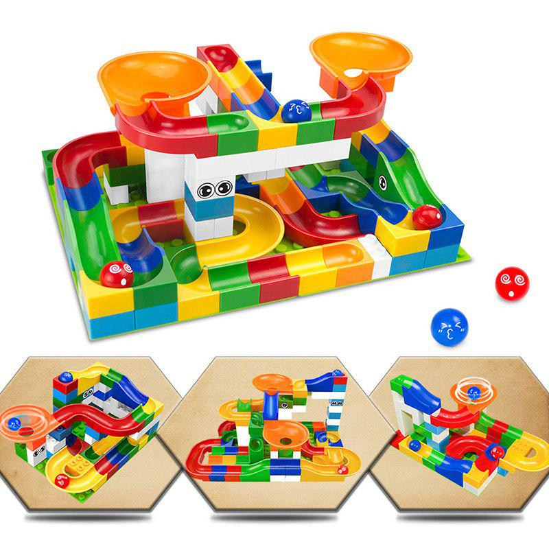 Affordable Construction Marble Race Run Maze Balls Track Building Blocks Educational Bricks Toy 52pcs