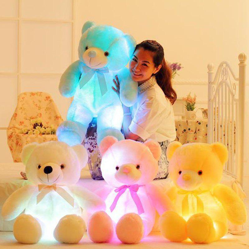 Chic Creative Light LED Stuffed Animals Plush Toy Colorful Christmas Gift for Kids
