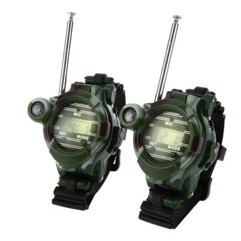 Camouflage Military Watch Wireless Walkie-talkie Seven-in-one Outdoor Children Walkie-talkie Toy 2pcs CAMOUFLAGE GREEN