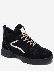 Contrast Suede Chunky Running Sneakers -