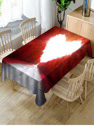 Maple Forest Heart Print Fabric Waterproof Tablecloth -