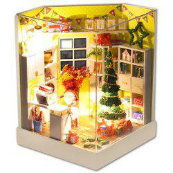 Merry Christmas Day DIY Dollhouse With Furniture Light Cover Gift Decor Collection -