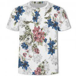 New Summer Round Neck Digital Print T-shirt -