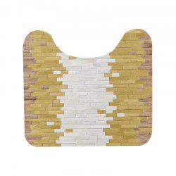 Stitching Pattern U-shaped Toilet Floor Mat -