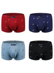 Men Comfortable Ventilate Underpants 4pcs -