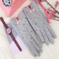 Women's Gloves Bow Tie Small Floral -