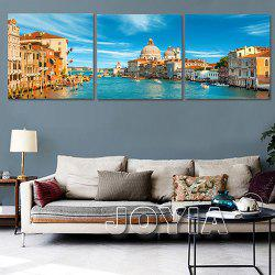 Triple Painting Core Beautiful Water City Oil Painting -