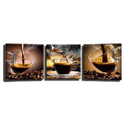 Triple Painting Of The Core Of The Delicious Coffee Oil Painting -