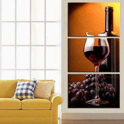 Triple Painting Core Delicious Grape Wine Oil Painting -