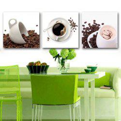 Triptych Core Coffee Beans And Delicious Coffee Oil Painting -