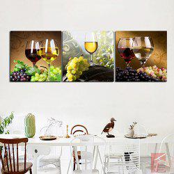 Triple Painting Of Core White Wine And Red Wine Oil Painting -