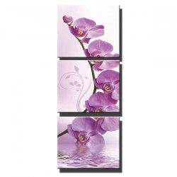 Triptych Core Purple Pansy -