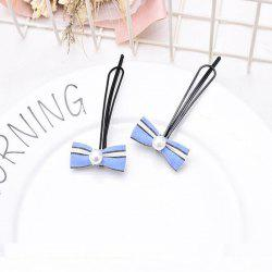 Simple Pearl Bow Paired A Clip 2pcs -