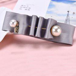 Textured Pearl Fabric Steel Clip -