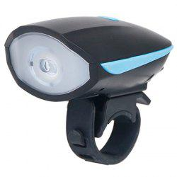 USB Charging Bicycle Horn Headlight Mountain Bike Super Loud Electric Bell -