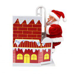 Fun Climbing Wall Climbing Chimney Santa Doll With Music Electric Toy -