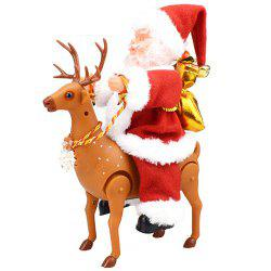 Novelty Fun With A Concert Walking Around The Deer Santa Electric Toy -